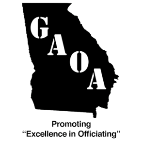 Georgia Athletic Officials Association logo